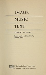 Cover of: Image, music, text