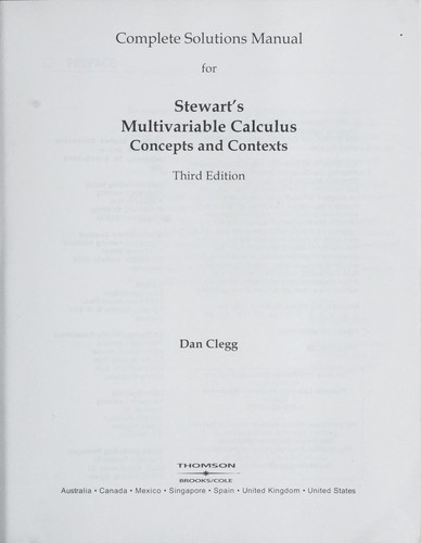 complete solutions manual for stewart s multivariable calculus 2005 rh openlibrary org james stewart multivariable calculus 7e solutions manual pdf multivariable calculus james stewart 6e solutions manual