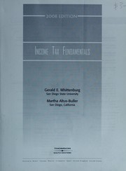 Cover of: Income Tax Fundamentals (with TaxCut Tax Prep Software) (Income Tax Fundamentals) | Gerald E. Whittenburg
