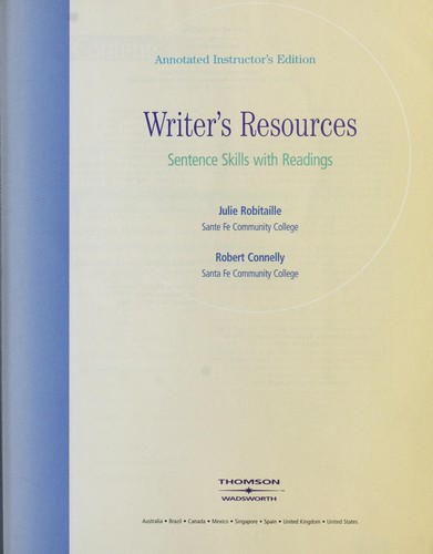 Writer's resources by Julie Robitaille