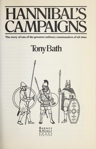 Hannibal's campaigns by Tony Bath