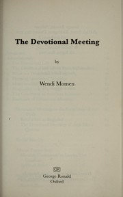 Cover of: The devotional meeting