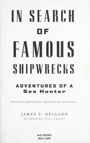 Cover of: In search of famous shipwrecks