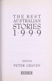 Cover of: The best Australian stories 1999