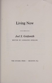 Cover of: Living now