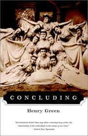 Cover of: Concluding