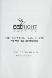 Cover of: Eat right America