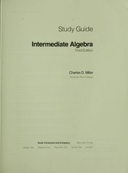 Cover of: Study guide--intermediate algebra | Charles D. Miller