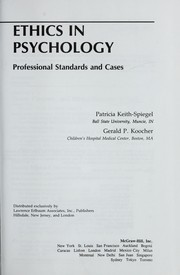 Ethics in psychology by Patricia Keith-Spiegel