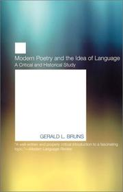 Cover of: Modern poetry and the idea of language