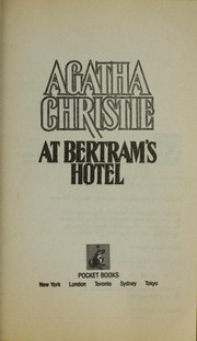 Cover of: At Bertram's hotel | Agatha Christie