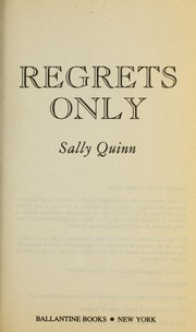 Cover of: Regrets only
