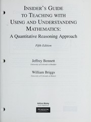 Cover of: Insiders guide to teaching with Using and understanding mathematics, a quantitative reasoning approach, fifth ed