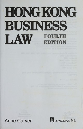 Hong Kong business law by Anne Carver