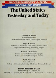 Cover of: The United States, yesterday and today | Timothy M. Helmus