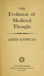 Cover of: The evolution of medieval thought