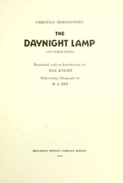 Cover of: The daynight lamp and other poems