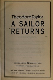 Cover of: A sailor returns