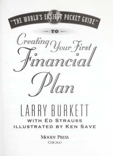 """The world easiest pocket guide"" to creating your first financial plan by"