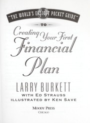 "Cover of: ""The world easiest pocket guide"" to creating your first financial plan 