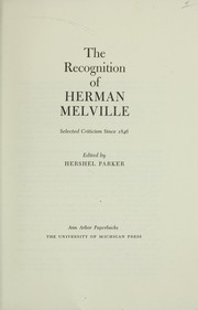 Cover of: The recognition of Herman Melville