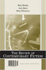 Cover of: Review of Contemporary Fiction : XXIII, #2