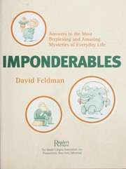 Cover of: Imponderables