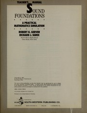 Cover of: Sound foundations
