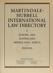 Cover of: Martindale-Hubbell international law directory | Martindale-Hubbell (Firm)