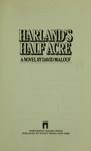 Cover of: Harland's half acre