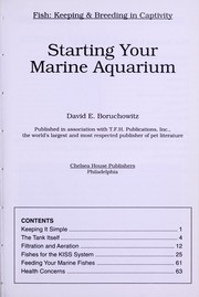 Cover of: Starting your marine aquarium