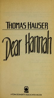 Cover of: Dear Hannah