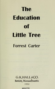 Cover of: The education of Little Tree