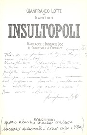 Cover of: Insultopoli | Gianfranco Lotti
