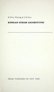 Cover of: Russian steam locomotives | H. M. Le Fleming