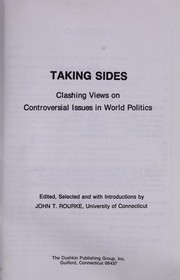 Cover of: Taking sides