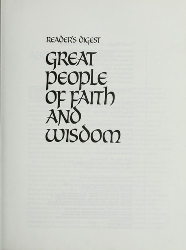 Great people of faith and wisdom by James A. Maxwell