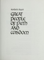 Cover of: Great people of faith and wisdom | James A. Maxwell