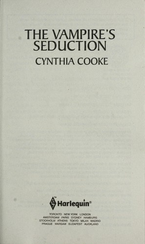 The Vampire's Seduction by Cynthia Cooke