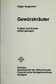 Cover of: Gewu rzkra uter