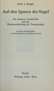 Cover of: Auf den Spuren der Engel