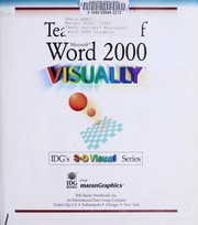 Cover of: Teach yourself Microsoft Word 2000 visually | Ruth Maran