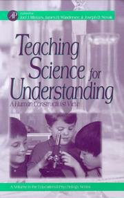 Cover of: Teaching science for understanding