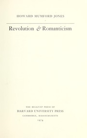 Cover of: Revolution & romanticism