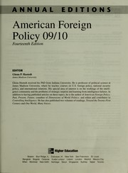 Cover of: American Foreign Policy 09/10