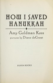 Cover of: How I saved Hanukkah