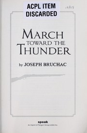 Cover of: March Toward the Thunder