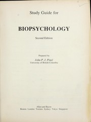 Cover of: Study guide for biopsychology