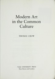 Cover of: Modern art in the common culture