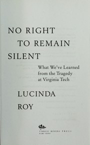 Cover of: No right to remain silent